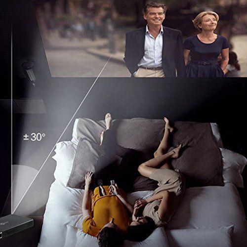photo Wallpaper of LESHP-Full HD Beamer, LESHP Beweglicher Mini Projector 1000 Lumens 1280X800 Volles Full HD-