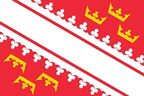 photo Wallpaper of magFlags-MagFlags Flagge: XXS Elsass | Querformat Fahne | 0.24m² |-