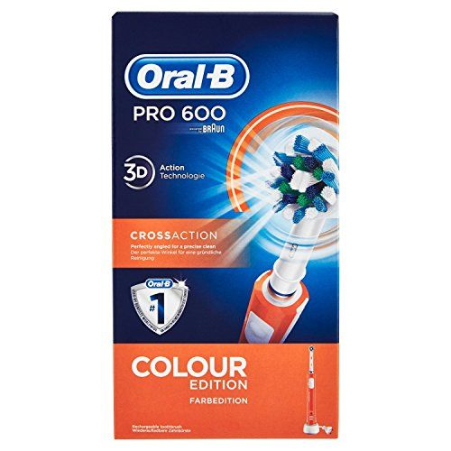 photo Wallpaper of Oral-B-Oral B PRO 600 CrossAction   Cepillo De Dientes Eléctrico Con Tecnología Braun-Naranja