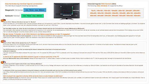 photo Wallpaper of RICOO-RICOO Wandhalterung TV Schwenkbar Neigbar R05 Universal LCD Wandhalter Ausziehbar-schwarz