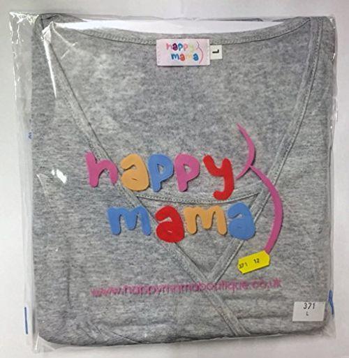 photo Wallpaper of Happy Mama-Happy Mama Damen Geburtskleid Krankenhaus Umstands Nachthemd Stillfunktion. 097p (Marine, EU 38/40, S)-Marine