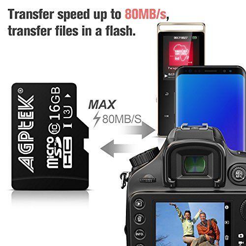 photo Wallpaper of AGPTEK-16GB Klasse 10 SD UHS III Speicherkarte Ultra Schnelle Geschwindigkeit Bis-