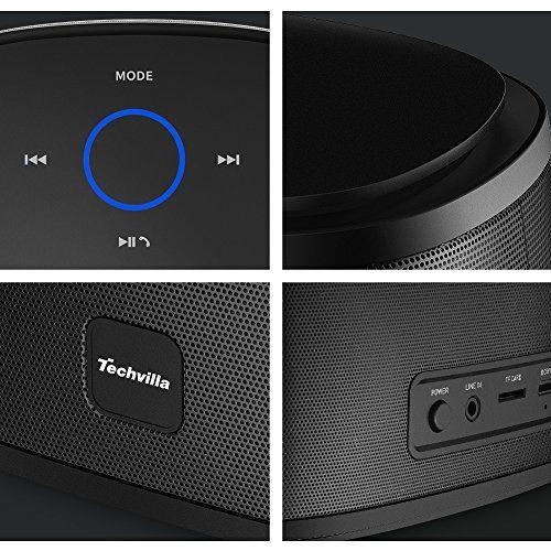 photo Wallpaper of Techvilla-Bluetooth Lautsprecher Techvilla Wireless Bluetooth Lautsprecher Touch Tragbare Mit Dual Treiber,-Schwarz