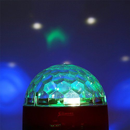 photo Wallpaper of SOLMORE-Discokugel LED,SOLMORE Magic Musik Partybeleuchtung Disco Projektor Discolicht Lichteffekte Discobeleuchtung Partybeleuchtung Mit Fernbedienung-