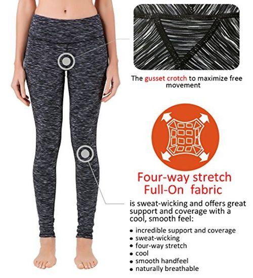 photo Wallpaper of Queenie Ke-Queenie Ke Damen Power Flex Yoga Hosen Training Laufende Leggings-Schwarz Grau