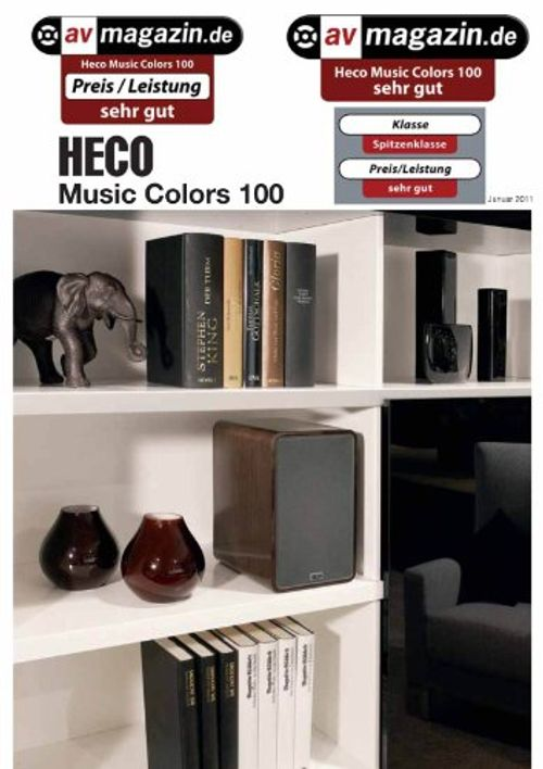 photo Wallpaper of Heco-Heco Music Colors 100, Regallautsprecher, Piano White (1 Paar)-weiß