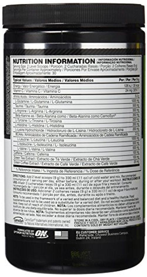 photo Wallpaper of Optimum Nutrition-Optimum Nutrition Amino Energy, Limón Y Lima   270 G-Limón Y Lima