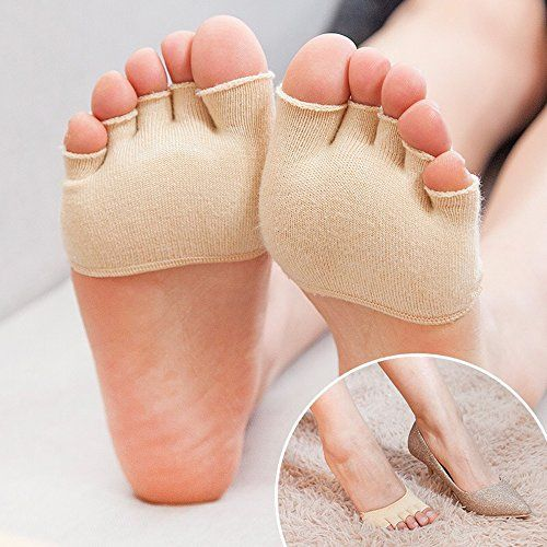 photo Wallpaper of REKYO-REKYO 10 Paar Baumwollsocken Toe Topper Für Frauen Peep Toe Socken Vorfuß-Schwarze Haut