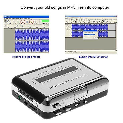 photo Wallpaper of Docooler-Docooler Tragbare Kassettenspieler   Portable Tape Player Captures Kassettenrekorder über USB-Type 1