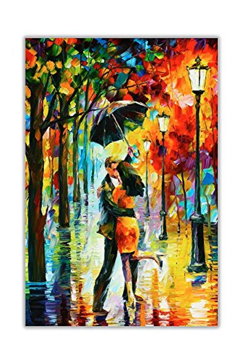 photo Wallpaper of CANVAS IT UP-New Dance Unter Der Von Leonid Afremov Auf Leinwand Abstrakt Bild Wand Drucke-