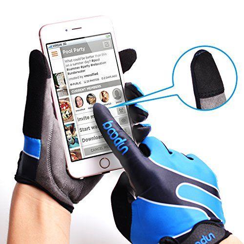 photo Wallpaper of Molee-Fahrradhandschuhe Radsporthandschuhe Rutschfeste Und Stoßdämpfende Mountainbike Handschuhe Mit Signalfarbe Geeiget Für Radsport MTB-Blau