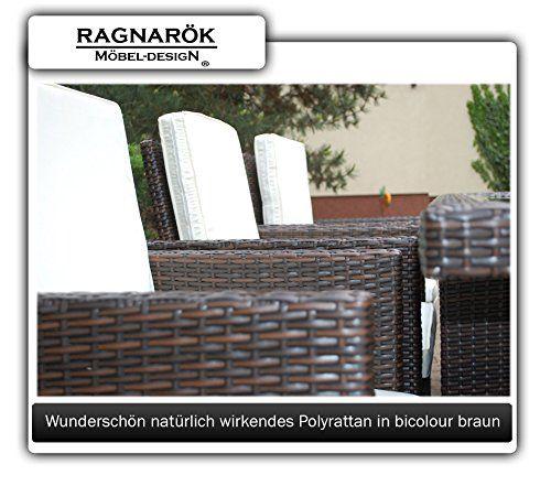 photo Wallpaper of Ragnarök-Möbeldesign-PolyRattan Essgruppe DEUTSCHE MARKE    EIGNENE PRODUKTION Tisch + 6 Stuhl-Braun