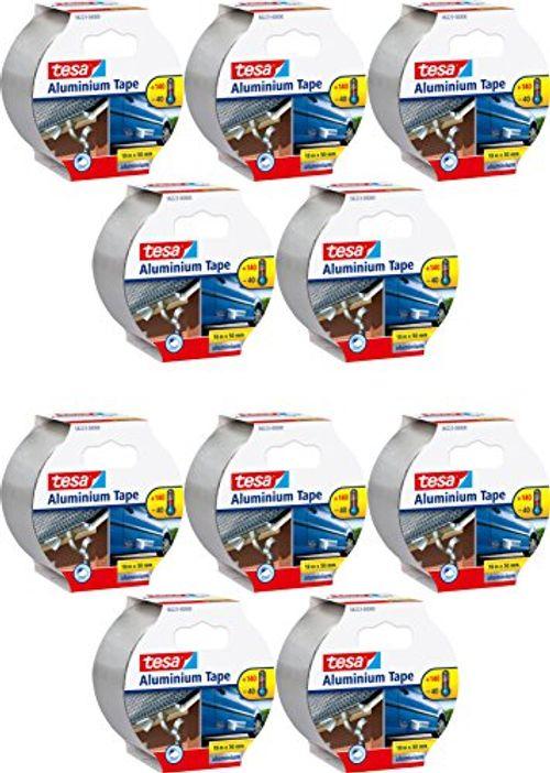 photo Wallpaper of tesa-TESA Aluminiumband, Selbstklebend, 10m X 50mm, Silber (10 Rollen)-