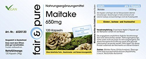 photo Wallpaper of Fair & Pure-Maitake 650mg (Grifola Frondosa), Vegan Und Natürlich, Ohne Magnesiumstearat, 120-