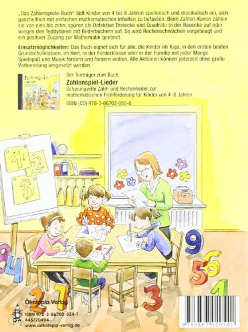 photo Wallpaper of Ökotopia Spielvertrieb-Das Zahlenspiele Buch: Spiele Und Lieder Rund Um Die Ersten Zahlen, Formen,-