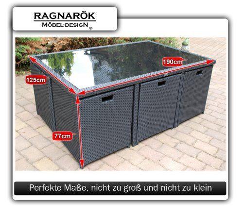photo Wallpaper of Ragnarök-Möbeldesign-PolyRattan Essgruppe   DEUTSCHE MARKE   EIGNENE PRODUKTION   8 JAHRE-Schwarz