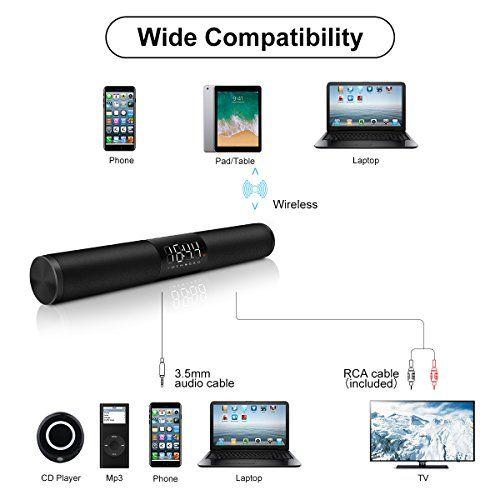 photo Wallpaper of ELEGIANT-Bluetooth Lautsprecher, ELEGIANT Bluetooth 4.2 Stereo Bass Lautsprecher Wireless Kabellose 2x10W Büro-
