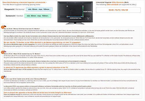 photo Wallpaper of RICOO-RICOO Monitorhalterung Monitor Wandhalterung TV Schwenkbar Neigbar S2311 TFT Wand Halterung-schwarz