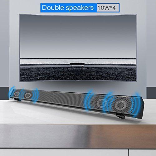 photo Wallpaper of Fozela-Fozela Soundbar, TV Sound Bar, Kabelgebundener Oder Kabelloser Bluetooth Lautsprecher (31.5 Zoll, 40 Watt-