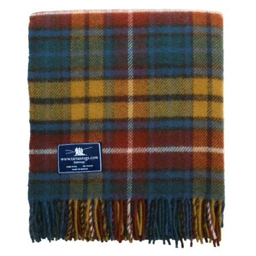 photo Wallpaper of Tweedmill Textiles-Antique Buchanan Tartan / Schottenmuster Wolldecke-Multi