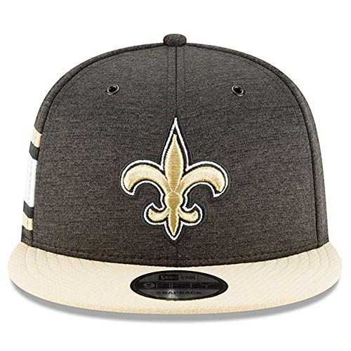 photo Wallpaper of New Era-New Era NFL New Orleans Saints Authentic 2018 Sideline 9FIFTY Snapback Home-Black & Gold