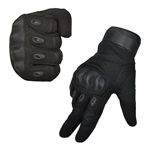 photo Wallpaper of Limirror-Limirror Herren Taktische Handschuhe Handschuhe Fahrradhandschuhe Motorrad Handschuhe Outdoor Sport Handschuhe Fitness Handschuhe Army-Schwarz