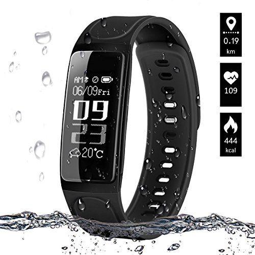 photo Wallpaper of IceFox-Fitness Armband, ELEGIANT Fitness Tracker Smart Armbänder Aktivitätstracker Sport Armbanduhr-Schwarz