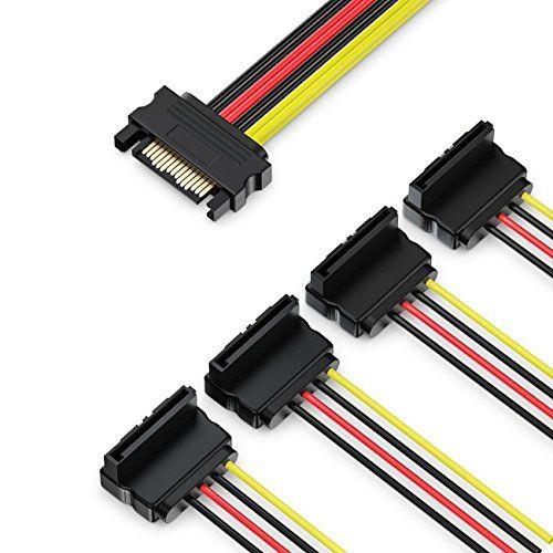 photo Wallpaper of deleyCON-DeleyCON 0,15m S ATA Strom Adapter Y Adapter   1x-Schwarz / Rot / Gelb