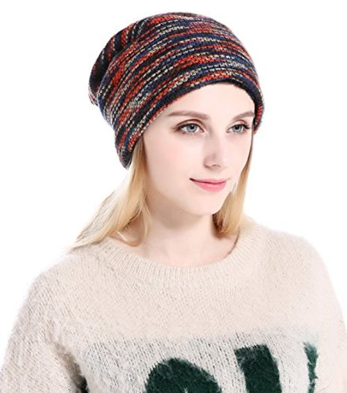 photo Wallpaper of CoCo Fashion-CoCo Fashion Unisex Beanie Mütze Elastisch Slouch Strickmütze Warme Wintermütze Skimützen,-045_Rot
