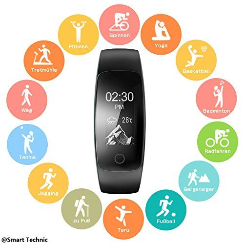 photo Wallpaper of Smart Technic-Pulsera Actividad Pulsera Inteligente Con GPS Para Correr, Nivel De Salud Cardiorrespiratoria,-Negro-107P