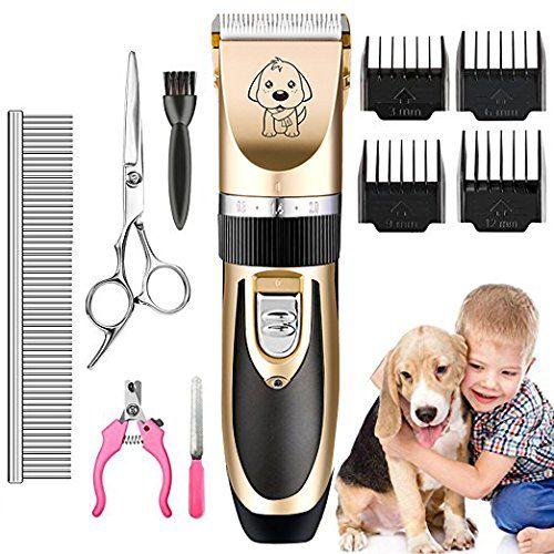 photo Wallpaper of AIYOOE-AIYOOE Haustier Grooming Clipper Kits, Wiederaufladbare Drahtlose Haarschneidemaschine, Elektrische Leise Schermaschine Hund-