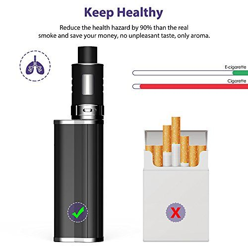 photo Wallpaper of FREDEST-Cigarrillo Electrónico Mod FREDEST Ajustable 7 60W 0,2 Ohm 2ml Electronico-Negro