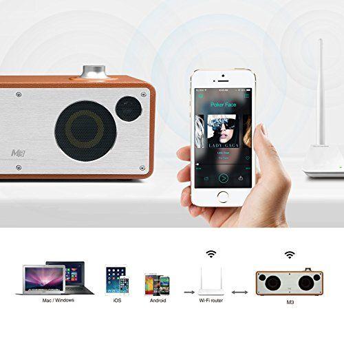 photo Wallpaper of GGMM-GGMM M3 WLAN Lautsprecher Wi Fi/ Bluetooth Lautsprecher Multiroom AirPlay Lautsprecher 2.0 Stereomusiksystem,-hellbraun