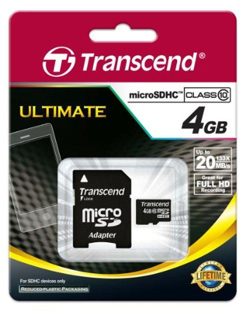 photo Wallpaper of Transcend-Transcend Extreme Speed Micro SDHC 4GB Class 10 Speicherkarte-Schwarz