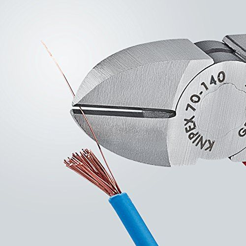 photo Wallpaper of Knipex-KNIPEX 70 02 140 Seitenschneider, Präzises Schneiden Bis Ø 4,0 Mm,-rot/blau