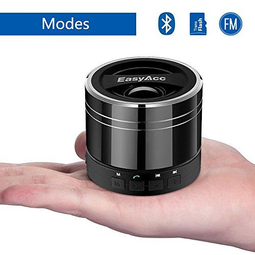 photo Wallpaper of EasyAcc-EasyAcc® Mini Portable Aufladbarer Bluetooth Lautsprecher, Wireless Bluetooth Boxen Lautsprecher Für Smartphones,-Titanium Schwarz
