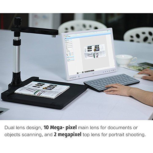 photo Wallpaper of Aibecy-Aibecy Tragbar Dual Linse USB LED Dokumentenscanner Mit OCR Funktion, Optional Sprache-