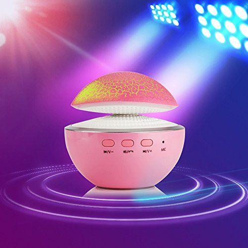photo Wallpaper of Vmank-Funk Lautsprecher, Vman Bewegliche LED Bluetooth Lautsprecher Stereo Cube Mit-blau