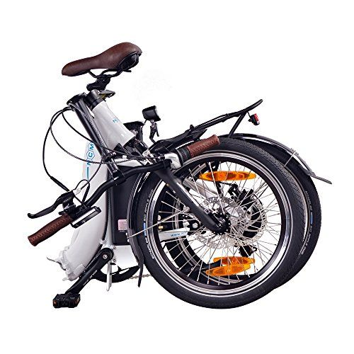 photo Wallpaper of NCM-NCM Paris 20 Zoll E Faltrad E Bike, 36V 250W Motor,-Weiß 15Ah