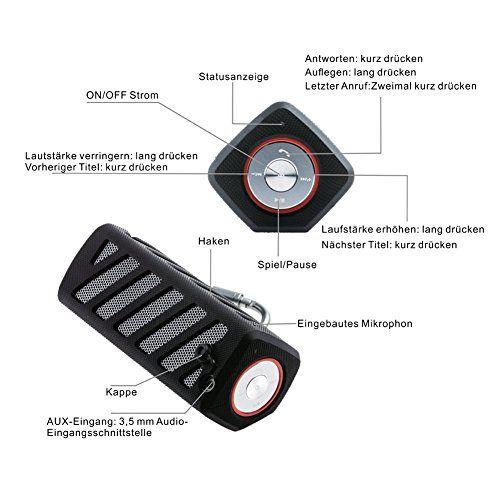 photo Wallpaper of Hapyia-Hapyia Drahtlosen Portabler Bluetooth Lautsprecher Mit Toller Sound Qualität, 20 Stunden-Schwarz