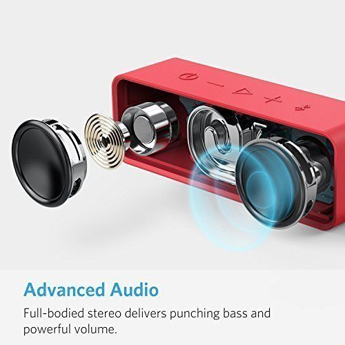 photo Wallpaper of Anker-Anker SoundCore   Mobiler Bluetooth 4.0 Lautsprecher Mit Unglaublicher-Red