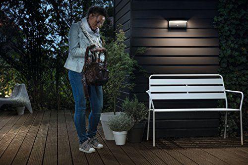photos of Philips MyGarden LED Wandaussenleuchte Bustan, Anthrazit, Bewegungsmelder, Gartenleuchte Einkaufsführer Kaufen   model Beleuchtung