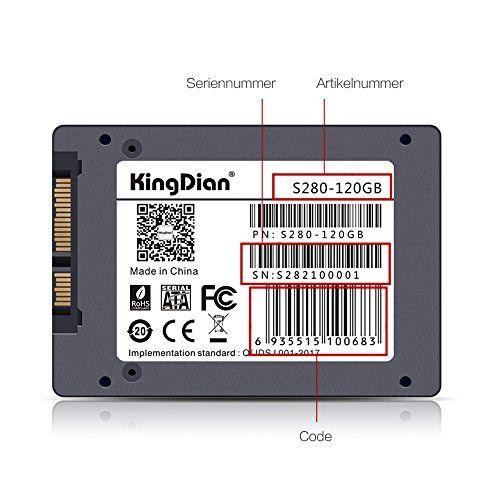 photo Wallpaper of KingDian-KingDian 2.5 Inch SATA 6Gb/s High Speed Internal SSD 120GB 128GB-grau