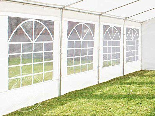 photo Wallpaper of PROFIZELT24-Hochwertiges Partyzelt 5x8 M Pavillon Zelt 240g/m² PE Plane Gartenzelt Festzelt Bierzelt Wasserdicht!-weiß