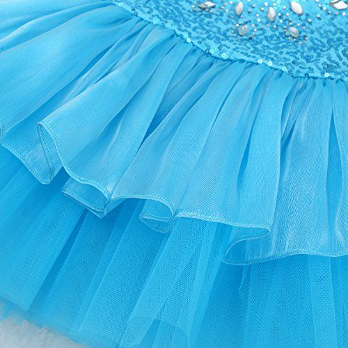 photo Wallpaper of iEFiEL-IEFiEL Mädchen Kleid Ballettkleid Kinder Ballett Trikot Ballettanzug Mit Tütü-Blau