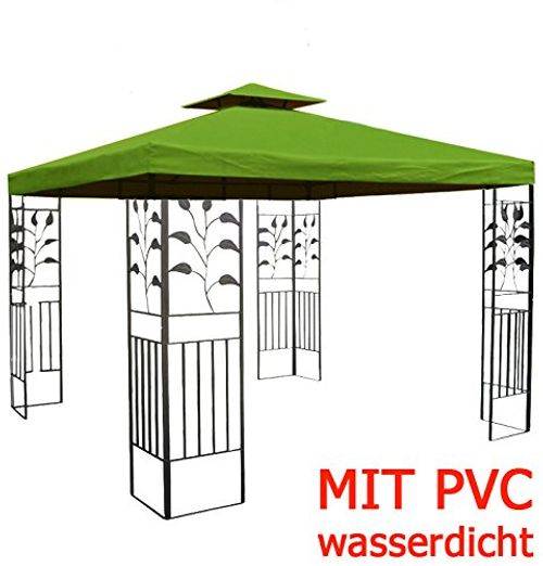photo Wallpaper of habeig-WASSERDICHTER Pavillon TOSKANA 3x3m Metall Inkl. Dach Festzelt Wasserfest Partyzelt-Waldgrün