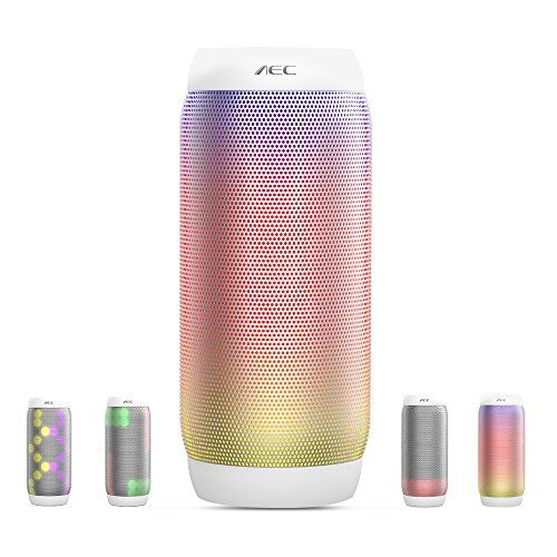 photo Wallpaper of Life-Plus-LED Lautsprecher, HUMTUS Wireless Bluetooth Lautsprecher, HIFI Lautsprecher Tragbarer Stereo Lautsprecher USB Charging 6-Weiß