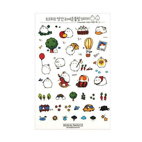 photo Wallpaper of Kanggest-Kanggest 6Pcs Tagebuch Transparente Aufkleber Dekoration Scrapbooking Deco Kalender Koreanische Version Cute-Rabbit