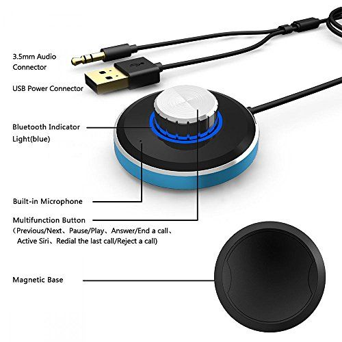 photo Wallpaper of LeaningTech-LeaningTech Mini Bluetooth 4.0 Wireless Dratlos Musik Receiver Empfänger 3.5mm Adapter Freihändige-