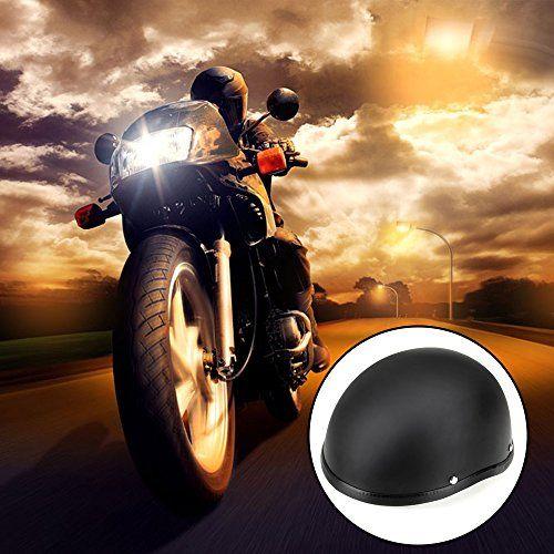 photo Wallpaper of Foxpic-Foxpic Motorrad Helm Sturz Motorradhelm Rollerhelm Halbschale Kopfschutz Schwarz-Schwarz